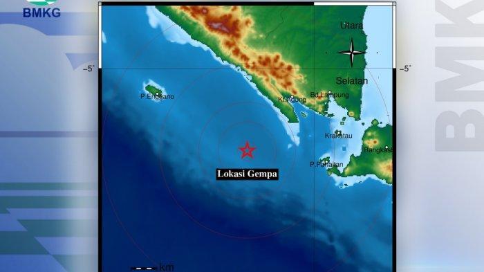 Gempa Magnitudo 3,9 di Pesisir Barat, Kedalaman 24 Km