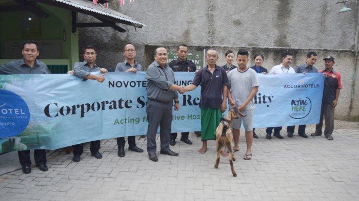 Novotel Pererat Silaturahmi dengan 9 Ekor Kambing Kurban