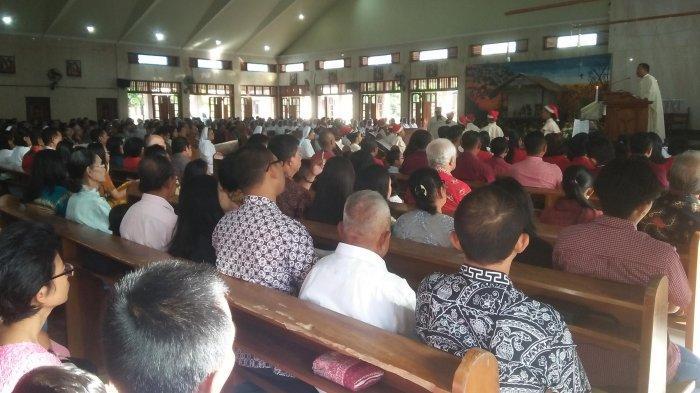 Misa Natal di Gereja Katolik Paroki ST Yusup Dijaga Personel Kepolisian Hingga Ormas Pemuda Katolik