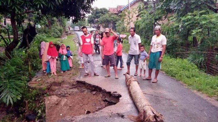 Gorong-gorong di Dusun Buring Ambrol Usai Diguyur Hujan Deras