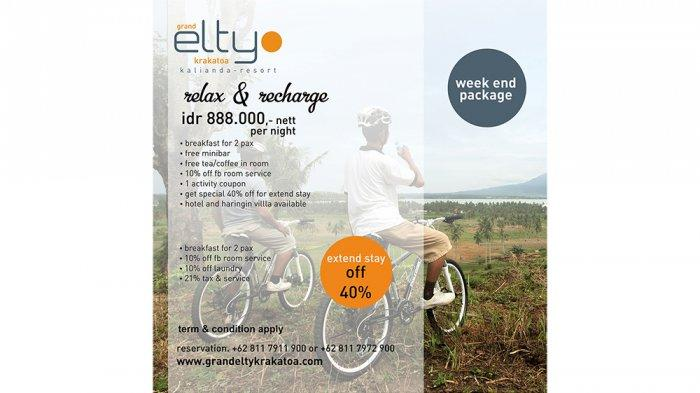 Grand Elty Tawarkan Paket Week end package Relax and Charge