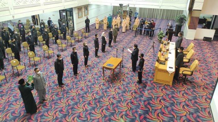 Gubernur Arinal Lantik 8 JPTP di Pemprov Lampung:Jangan Ada yang Nyeleneh