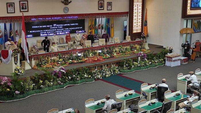 Gubernur Arinal Pimpin Paripurna Istimewa HUT ke-57 Provinsi Lampung