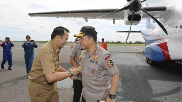 Gubernur Ridho dan Kapolda Dampingi Kapolri Tito Karnavian Tinjau Lokasi Kebakaran Polres Lamsel