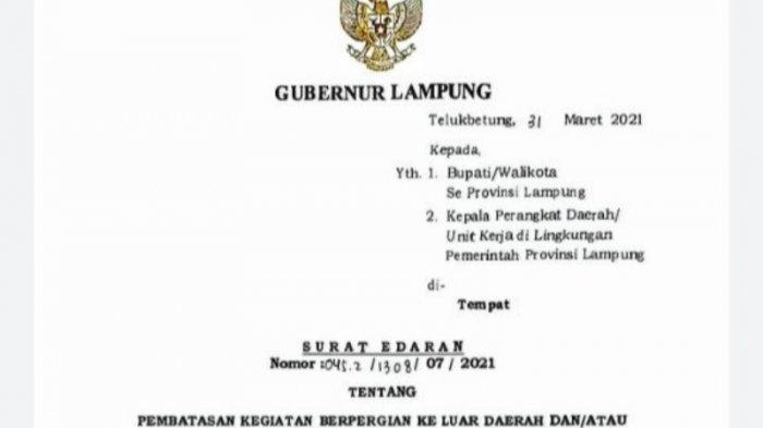 Gubernur Lampung Arinal Larang ASN Mudik Lebaran 2021