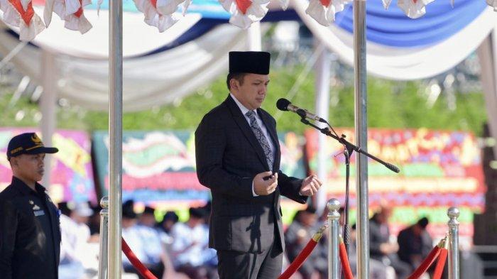 Gubernur Ridho Pimpin Upacara Hardiknas 2019, Tegaskan Pembangunan Infrastruktur dan SDM