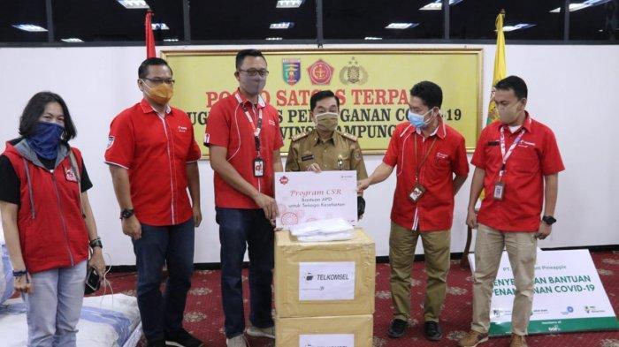 Gugus Tugas Covid-19 Lampung Terima Bantuan dari PT GGP, PT Telkomsel dan Dinas PSDA