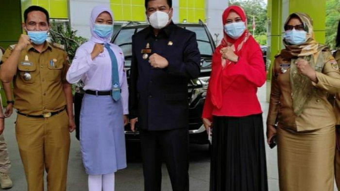 Musa Ahmad Memotivasi Siswi dari Lampung Tengah Jadi Purna Paskibraka