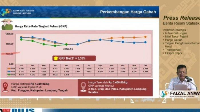 Harga Gabah Kering Tingkat Petani Lampung Rp 3.851 per Kg, Rendah Dibanding Harga Nasional