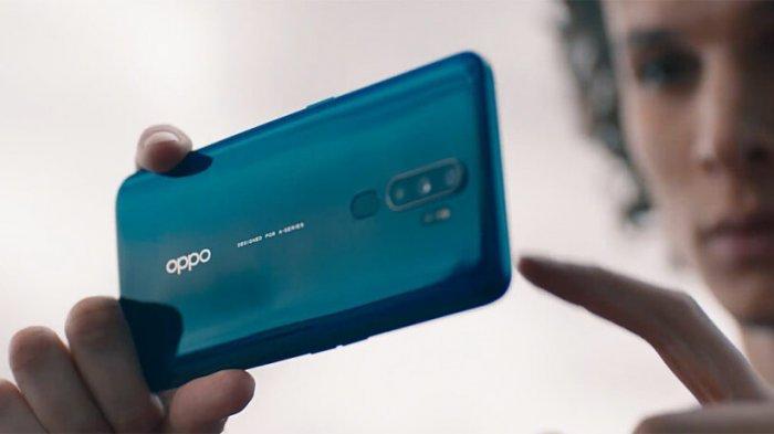 Ilustrasi tampilan belakang HP Oppo A5 2020