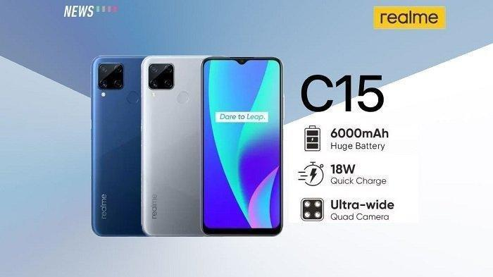 Harga HP Realme C15, Kapasitas Baterai 6.000 mAh
