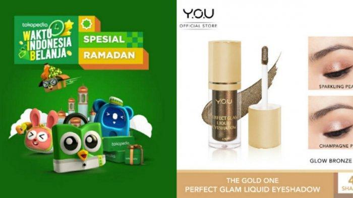 Harga YOU The Gold One Perfect Glam Liquid Eyeshadow, Simak Promo Tokopedia 2021