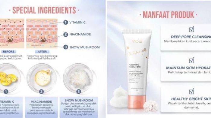 Harga YOU The Radiance White Purifying Facial Foam, Simak Promo Tokopedia 2021