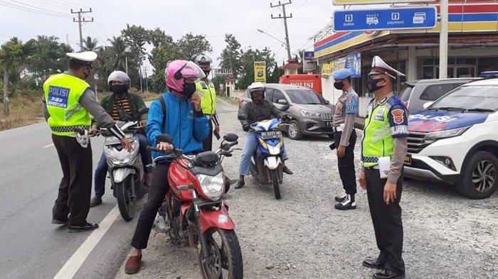 Hari Kedua Operasi Zebra Krakatau 2020, Polres Tulangbawang Tilang 14 Kendaraan