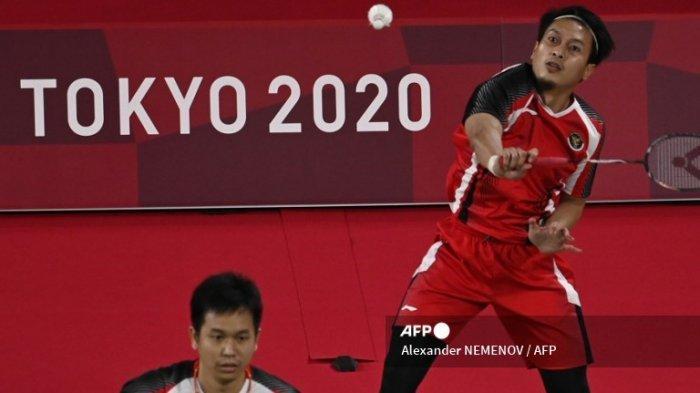 Hasil Badminton Olimpiade Tokyo 2020, M Ahsan Jelaskan Kunci Kemenangan Saat Melawan Korea Selatan