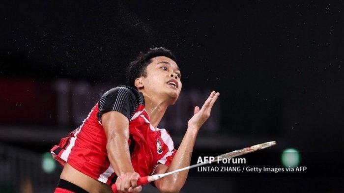 HASIL Bulu Tangkis Olimpiade Tokyo 2020, Anthony Ginting Kandas di Semifinal