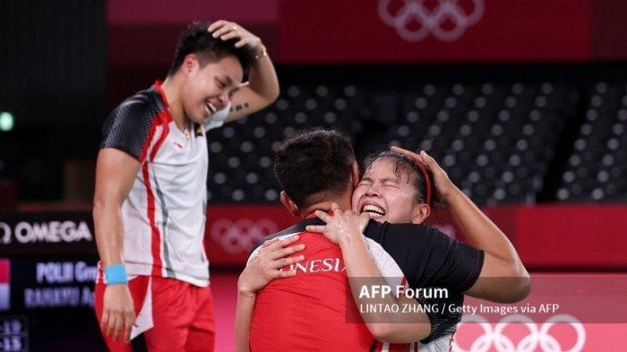 Hasil Bulu Tangkis Olimpiade Tokyo 2020, Medali Emas Pertama dari Greysia Polii/Apriyani Rayahu