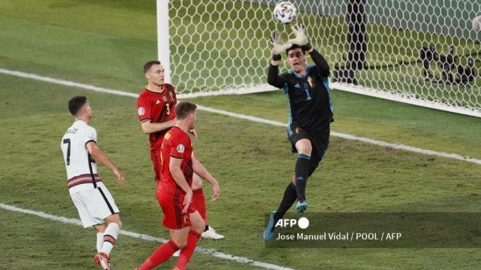 Simak hasil Euro 2020 babak 16 besar Belgia vs Portugal berakhir dengan skor 1-0.