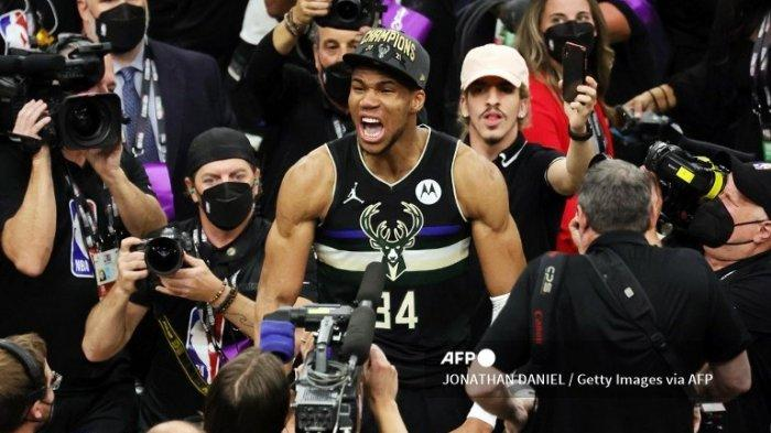 Hasil Final NBA 2021, Giannis Antetokounmpo Menggila dan Bawa Milwaukee Bucks Juara NBA 2021