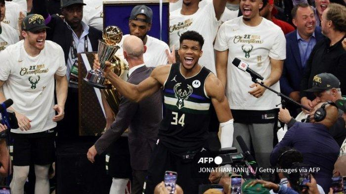 Hasil Final NBA 2021, Milwaukee Bucks Juara NBA 2021 Setelah Kalahkan Suns