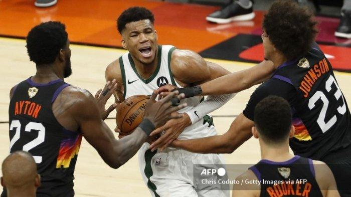 Ilustrasi. Hasil Final NBA 2021 Suns vs Bucks, Chris Paul Gemilang, Giannis Antetokounmpo Tak Berdaya