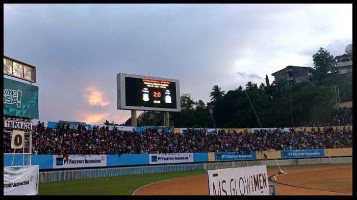 HASIL Final Sepak Bola PON XX, Papua Rebut Medali Emas Seusai Tumbangkan Aceh 2-0