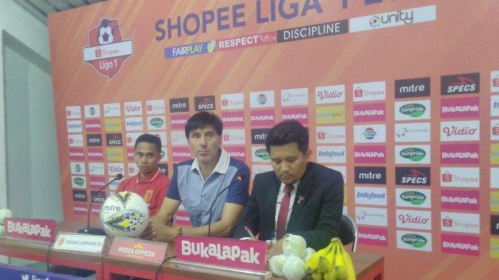 Hasil Liga 1 2019 Badak Lampung vs Semen Padang, Pelatih Milan Petrovic: Saya Minta Maaf