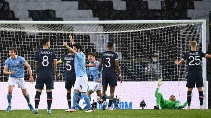 Hasil liga champions PSG vs Man City