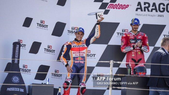 Hasil MotoGP 2021 Aragon, Marquez Ungkap Sulit Temukan Titik Lemah Bagnaia