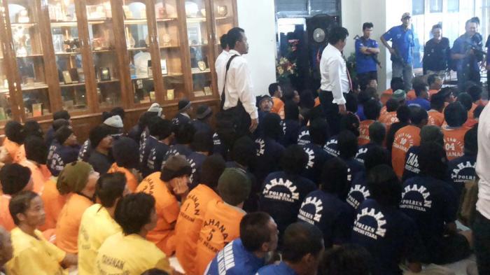 FOTO BREAKING NEWS: Polda Lampung Gelar Hasil Operasi Cempaka