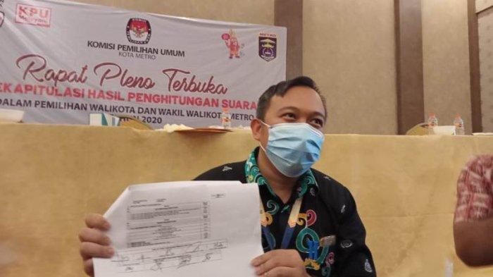 Hasil Pilkada Metro 2020, Pleno KPU Wahdi-Qomaru Raih Suara Terbanyak