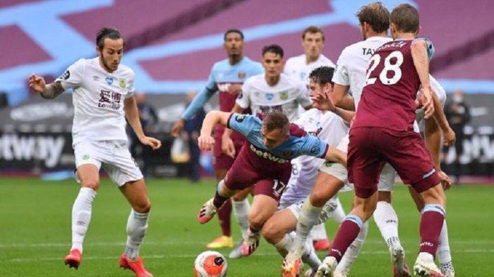 Jadwal Liga Inggris Pekan ke-34, Prediksi dan Head to Head Burnley vs West Ham