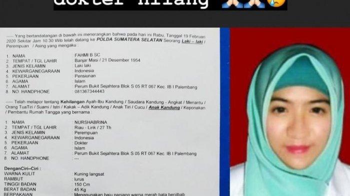 Heboh Dilaporkan Hilang di Lampung, Dokter Muda Asal Palembang Akhirnya Beri Klarifikasi