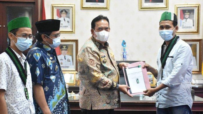 HMI Lampung Timur Usulkan Konsep Bangun Desa Mandiri ke Wabup Azwar Hadi