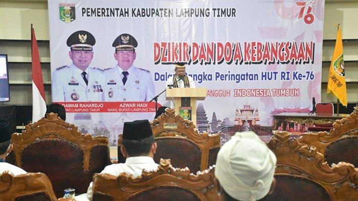 HUT ke-76 RI, Pemkab Lampung Timur Gelar Dzikir dan Doa Kebangsaan Virtual