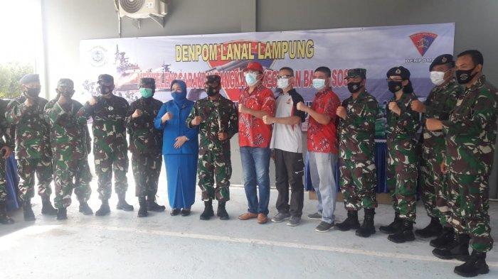HUT Ke-75, POMAL Gelar Donor Darah di Denpom Lanal Lampung