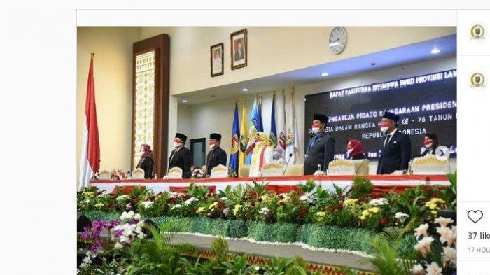DPRD Lampung Gelar Rapat Paripurna Istimewa Peringati HUT Kemerdekaan Republik Indonesia ke-76