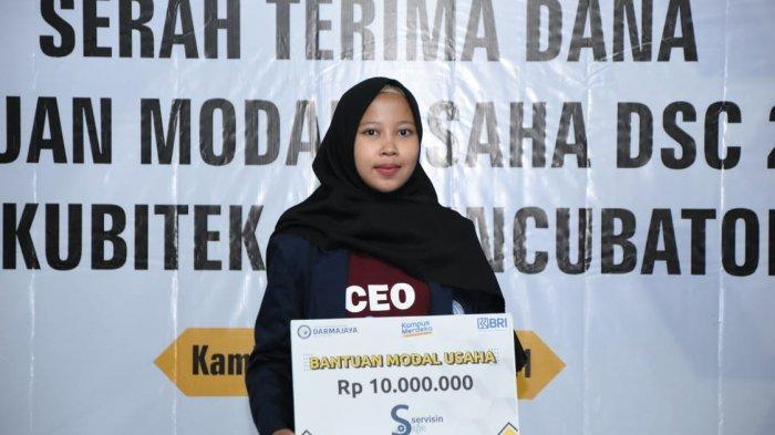 Mahasiswi Teknik Informatika IIB Darmajaya Jadi Pemenang Darmajaya Startup Competition 2021