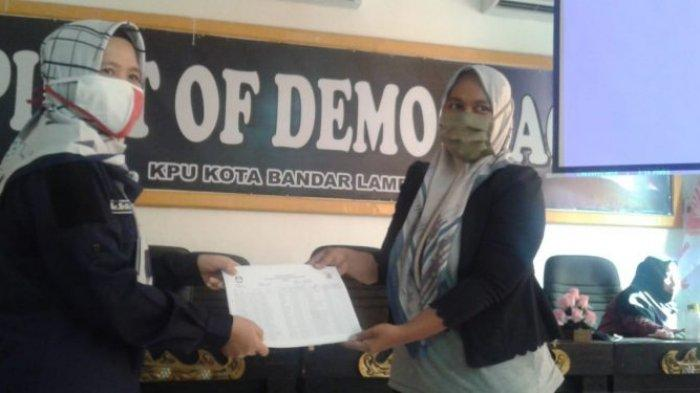 Tahap Uji Publik, KPU Bandar Lampung Serahkan DPS ke PPK