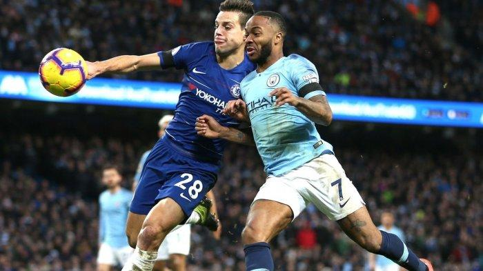 Ilustrasi Man City vs Chelsea final Liga Champions