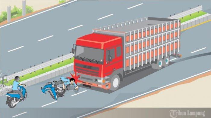 Kronologi Kecelakaan Maut di Lampung Selatan, Truk Rem Blong Tabrak Pemotor hingga Tewas