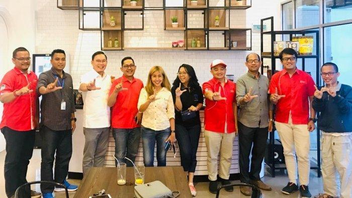 Presiden IMA Lampung Heri Andrian Ngobrol Kopi dengan Telkomsel, Tribun, Kopi Waw di Magna Coffee