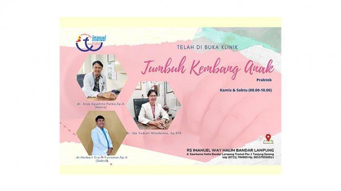 Rumah Sakit Imanuel Buka Klinik Tumbuh Kembang Anak