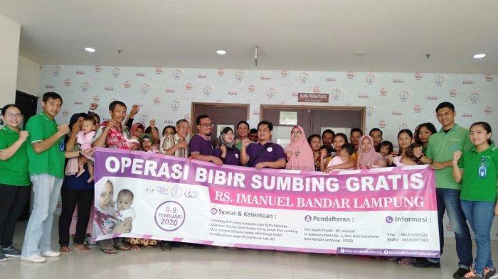 17 Anak Ikuti Operasi Bibir Sumbing dan Langit Langit  Gratis di Rumah Sakit Imanuel Wayhalim