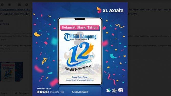 Selamat Ulang Tahun Ke-12 Tribun Lampung dari XL Axiata
