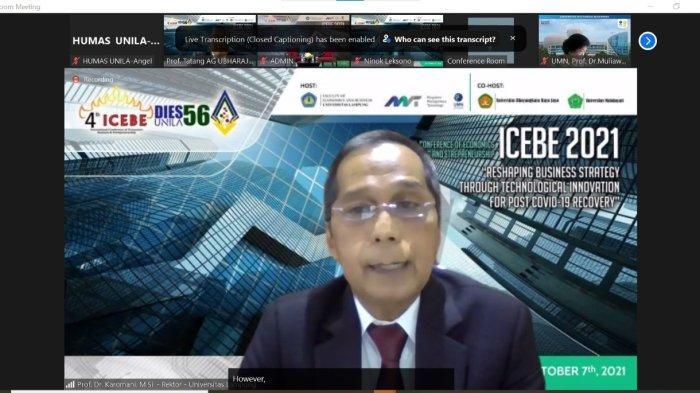 Rektor Unila Buka ICEBE ke-4 FEB Usung Strategi Bisnis Melalui Inovasi Teknologi Pascapandemi