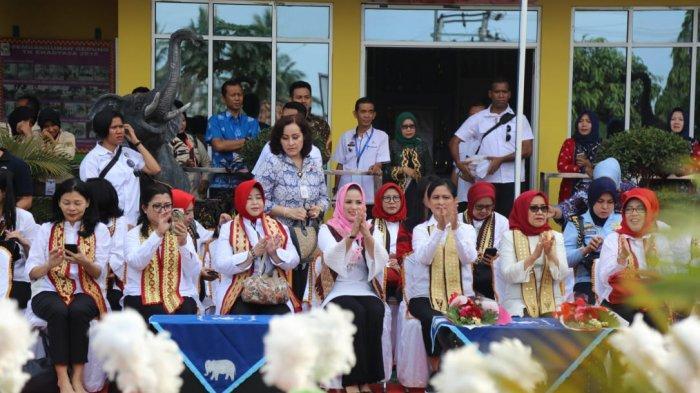 Ibu Negara dan Bunda Paud Lampung Ajak Anak Gemar Makan Sehat