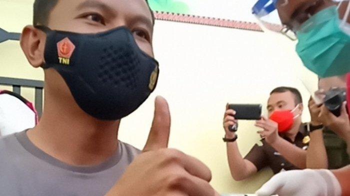 Jadi Penerima Vaksin Covid-19 Pertama di Lampung Timur, Kapolres: Tidak Terasa Sakit Sama Sekali