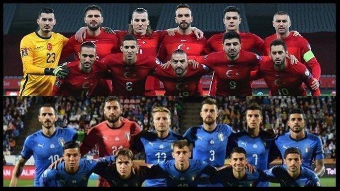 JADWAL Euro 2021 Turki vs Italia, Prediksi Susunan Pemain dan Head to Head