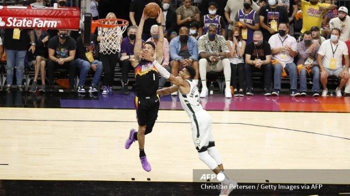 Jadwal Final NBA 2021, Devin Booker Ciptakan Sejarah 2 Kali Cetak 40 Poin Tapi Kalah